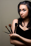 Portret MUA zdjęcie stock