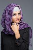 Portret Muzułmańskie kobiety w hijab obraz stock