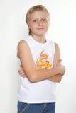 Portret N4 van een jongen van elf jaar. Stock Afbeeldingen