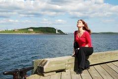 Portret na Boardwalk Obraz Royalty Free