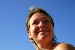 portret na plaży zdjęcie stock
