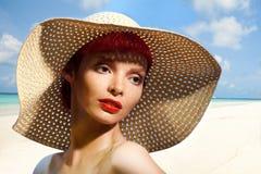 Portret na plaży Fotografia Royalty Free