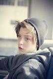 Portret nastolatek chłopiec Obrazy Royalty Free