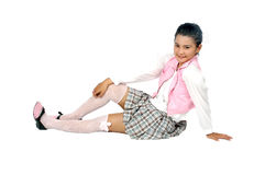 Portret nastolatka azjata młoda dziewczyna Fotografia Stock