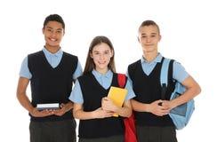 Portret nastolatkowie w mundurku szkolnym zdjęcie stock