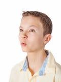 Portret nastoletni chłopak fotografia stock