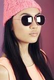 Portret nastoletnia dziewczyna w studiu zdjęcia royalty free