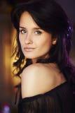Portret naturalna brunetki dziewczyna Zdjęcie Royalty Free