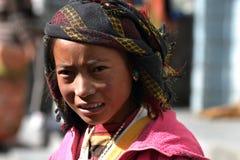 portret nepalskie kobiety Zdjęcia Stock