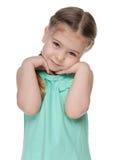 Portret nieśmiała mała dziewczynka Obraz Stock