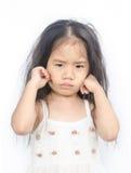 Portret nieszczęśliwa mała dziewczynka Zdjęcia Royalty Free