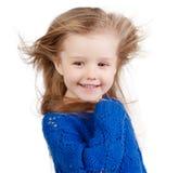 Portret odizolowywający na bielu szczęśliwy dziecko Zdjęcie Stock