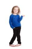 Portret odizolowywający na bielu szczęśliwy dziecko Fotografia Royalty Free