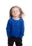 Portret odizolowywający na bielu szczęśliwy dziecko Zdjęcie Royalty Free