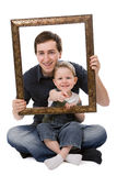 portret ojca, synu Obraz Royalty Free