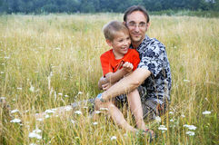portret ojciec i syn Fotografia Royalty Free