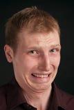 Portret op zwarte achtergrond Royalty-vrije Stock Afbeeldingen