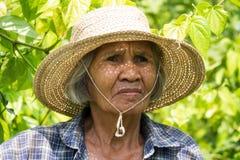 Portret Oude Aziatische Vrouwen royalty-vrije stock fotografie