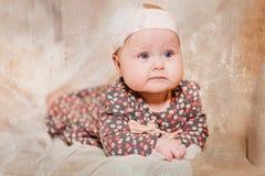 Portret półroczniak dziewczyna zdjęcia stock