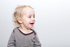 Portret płacz chłopiec Fotografia Stock