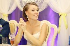 Portret panna młoda przy ślubem zdjęcia royalty free