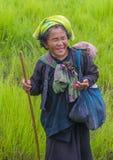 Portret Pao plemienia kobieta w Myanmar Zdjęcia Stock