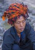 Portret Pao plemienia kobieta w Myanmar Obraz Stock