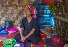 Portret Pao plemienia kobieta w Myanmar Obrazy Royalty Free