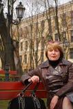 portret pełnoletnia środkowa kobieta Obrazy Stock