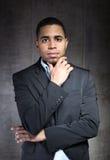 Portret peinzende zakenman Royalty-vrije Stock Fotografie