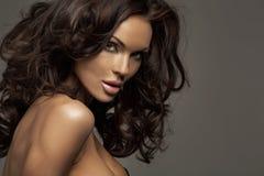 Portret perfect żeński piękno obraz stock