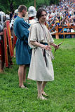 Portret persons w dziejowych kostiumach Fotografia Royalty Free