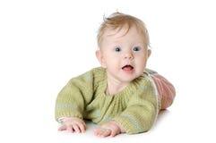 Portret pięć miesięcy starej dziewczynki Obrazy Stock