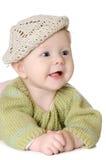 Portret pięć miesięcy stary dziewczynki być ubranym Zdjęcia Stock