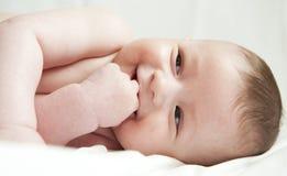 Portret pięć miesięcy stary dziecko. Fotografia Stock
