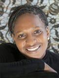 Portret piękna Afrykańska kobieta, Senegal Zdjęcia Stock