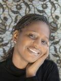 Portret piękna Afrykańska kobieta, Senegal Obrazy Royalty Free