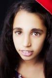 Portret piękna Afrykańska mała dziewczynka Obraz Royalty Free