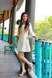 Portret Piękna azjatykcia kobieta zdjęcie stock
