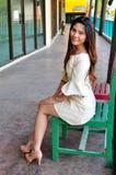 Portret Piękna azjatykcia kobieta zdjęcia stock