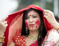 Portret Piękna Bengalska kobieta zdjęcia royalty free