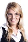 Portret piękna blondynka zdjęcie stock