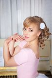 Portret piękna blondynki kobieta Zdjęcie Stock