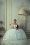 Portret piękna blondynki panna młoda obrazy royalty free