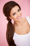 Portret piękna brunetka fotografia stock
