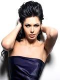Portret piękna brunetki kobieta zdjęcie royalty free