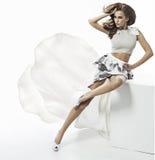 Portret piękna brunetki kobieta Obraz Royalty Free