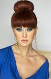 Portret piękna czerwieni głowy dziewczyna. Fotografia Royalty Free