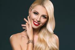 portret piękna czuła dziewczyna z makeup zdjęcie royalty free