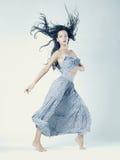 portret piękna dancingowa kobieta Fotografia Stock